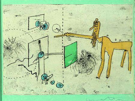 Radierung Und Aquatinta Matta - PAROLES PEINTES (1959) 10 gravures originales de Max Ernst, Jacques Hérold, Wifredo Lam, Sébastian Matta et DorotheaTanning