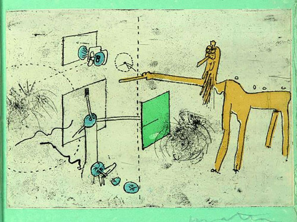 Radierung Und Aquatinta Matta - PAROLES PEINTES (1959) 10 gravures originales de Max Ernst, Jacques Hérold, Wifredo Lam, Sébastian Matta et DorotheaTanning. Poèmes d'Alain Bosquet.
