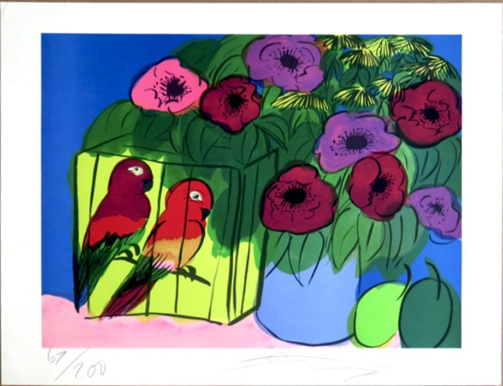 Siebdruck Ting - Parrots