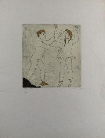 Radierung Und Aquatinta Manzu - Passo di danza I
