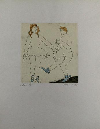 Radierung Und Aquatinta Manzu - Passo di danza II