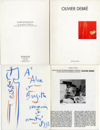Keine Technische Debré - Pastel original sur un catalogue d'exposition (1993)