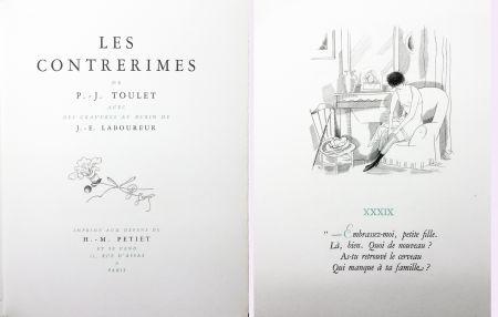 Illustriertes Buch Laboureur - Paul-Jean Toulet : LES CONTRERIMES. 63 gravures originales (1930)
