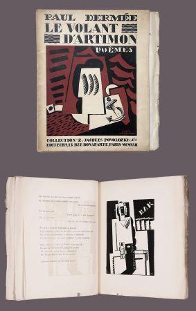Illustriertes Buch Marcoussis - Paul Dermée : LE VOLANT D'ARTIMON. POÈMES. 1 des 10 Hollande avec envoi.