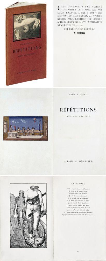 Illustriertes Buch Ernst - Paul ELUARD : Répétitions. Collages de Max Ernst. 1922.