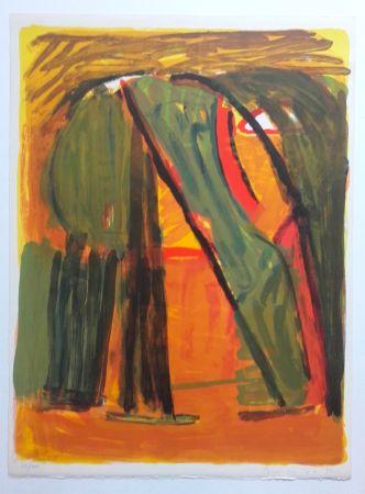 Lithographie Van Velde - Paysage
