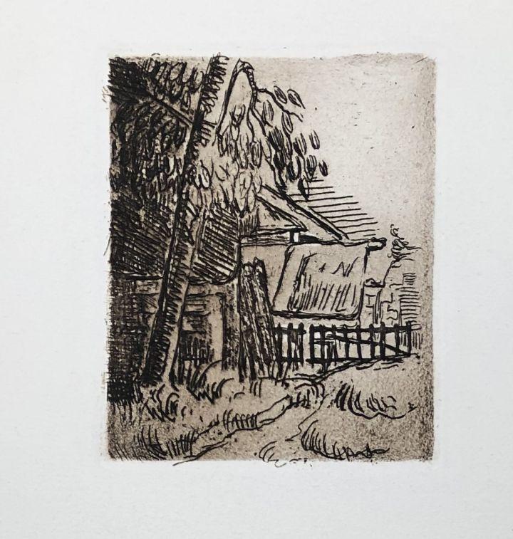 Radierung Cezanne - Paysage à Auvers