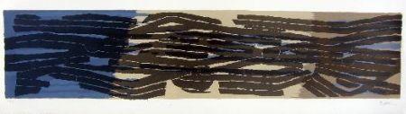 Lithographie Ubac - Paysage Aux Sillons 4