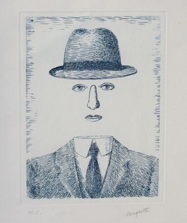 Radierung Magritte - Paysage de Baucis
