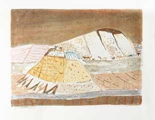 Lithographie Music - Paysage ombrien