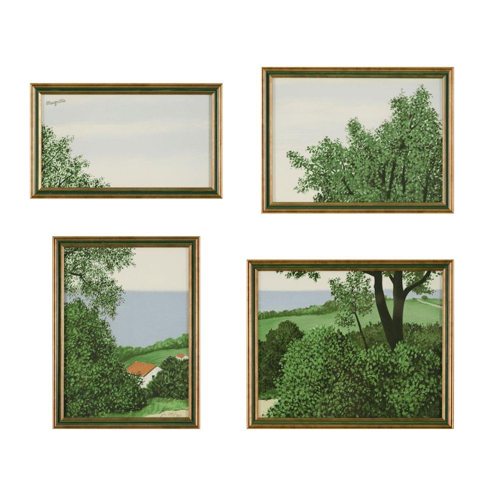 Lithographie Magritte - Paysage ou Profondeur de la Terre