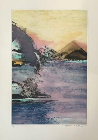 Radierung Und Aquatinta Zao - Paysage Violet