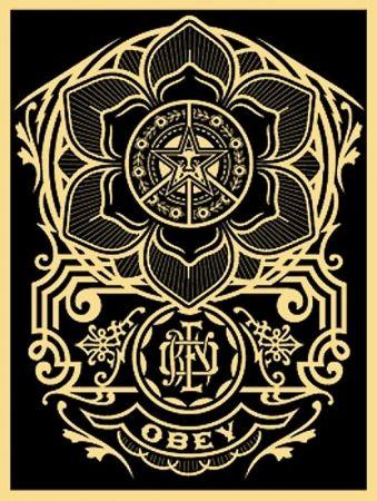 Siebdruck Fairey - Peace Ornament