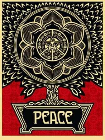Siebdruck Fairey - Peace Tree
