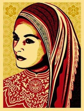 Siebdruck Fairey - Peace Woman