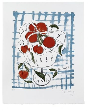 Lithographie Szczesny - Peach Still Life
