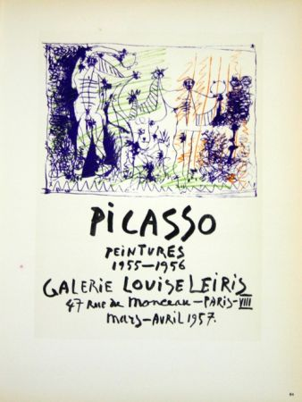 Lithographie Picasso (After) - Peintures  1955/1956