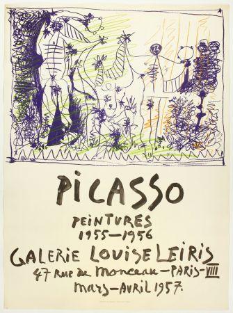 Lithographie Picasso - Peintures 1955 - 1956 (Galerie Louise Leiris)