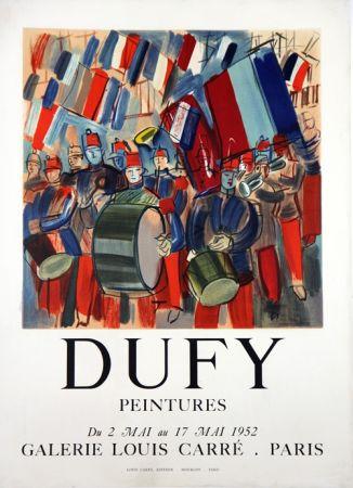 Lithographie Dufy - Peintures Galerie Louis Carré  Mai 1952