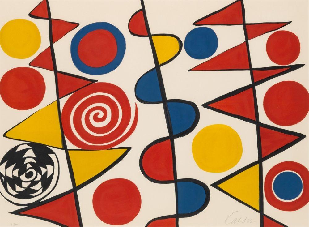 Lithographie Calder - Pennants