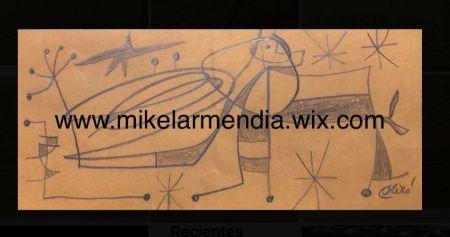 Keine Technische Miró - Personnage dans un paysage