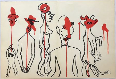 Lithographie Calder - Personnages I (1966)