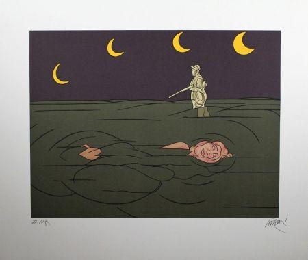 Lithographie Adami - Petit Clair De Lune