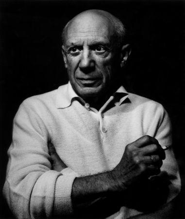 Fotografie Clergue - Picasso con un cigarro
