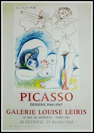 Plakat Picasso - PICASSO, DESSINS 1966-1967 GALERIE LEIRIS 1968