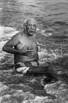 Fotografie Clergue - Picasso en la playa I