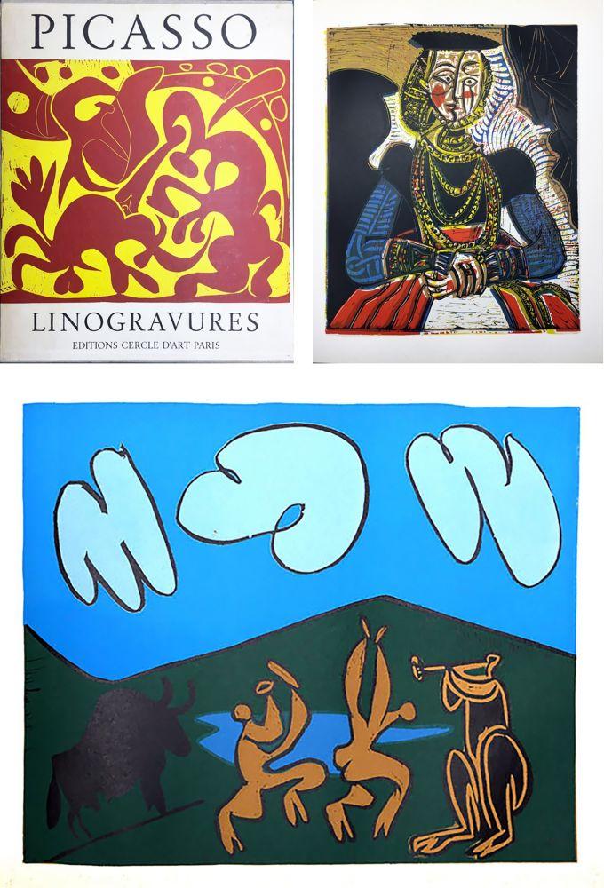 Illustriertes Buch Picasso - PICASSO LINOGRAVURES. (Picasso Linocuts). 1962.