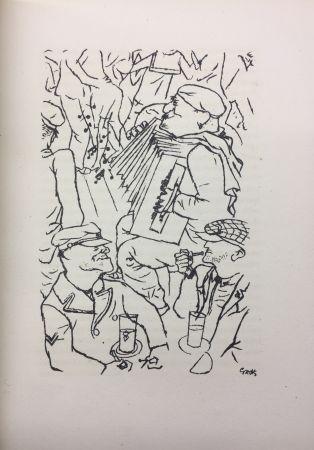Illustriertes Buch Grosz - Pierre Mac Orlan : PORT D'EAUX MORTES. Lithographies de Georges Grosz. 1926.