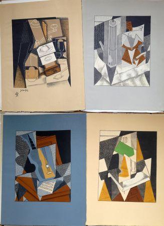 Illustriertes Buch Gris  - Pierre Reverdy:  AU SOLEIL DU PLAFOND. Tériade 1955