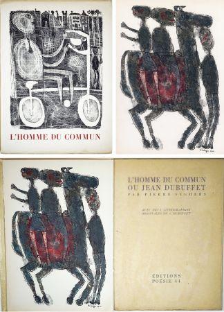 Illustriertes Buch Dubuffet - Pierre Seghers : L'HOMME DU COMMUN ou Jean Dubuffet (1944).