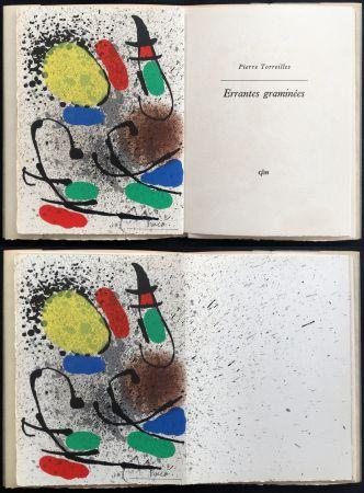 Illustriertes Buch Miró - Pierre Torreilles : ERRANTES GRAMINÉES (GLM 1971)