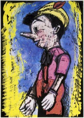 Siebdruck Dine - Pinocchio