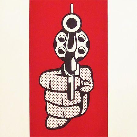 Siebdruck Lichtenstein - Pistol