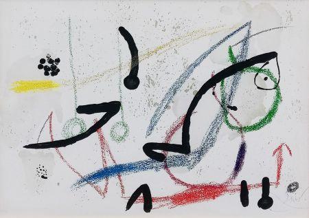 Lithographie Miró - PL. 9 (FROM MARAVILLAS CON VARIACIONES ACRÓSTICAS EN EL JARDIN DE MIRO)