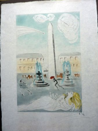 Radierung Und Aquatinta Dali - Place De La Concorde