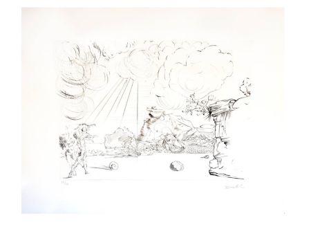 Lithographie Dali - Plage de Cadaques