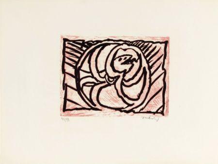 Lithographie Alechinsky - Planche V de la suite lino-litho