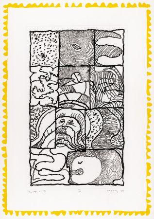 Aquatinta Alechinsky - Pleine page + marges