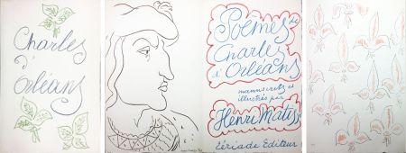 Illustriertes Buch Matisse - POÈMES DE CHARLES D'ORLÉANS 54 lithographies par Henri Matisse (1950).