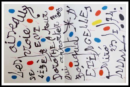 Lithographie Miró - Poème pour Dorothea Tanning