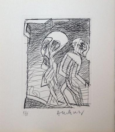 Radierung Alechinsky - Poèmes à peine poèmes