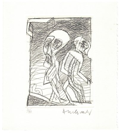 Radierung Alechinsky - '' Poèmes à peine poèmes ''