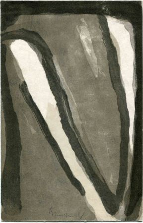 Lithographie Van Velde - POE (Edgar Allan). VALERY (Paul). Marginalia.