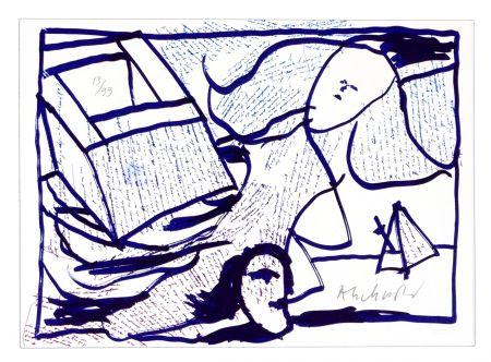 Lithographie Alechinsky - Pointes et Feutres (8)