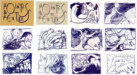 Lithographie Alechinsky - Pointes & Feutres