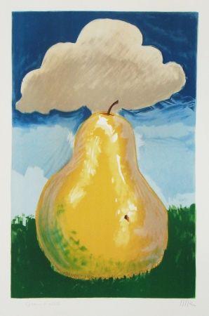 Lithographie Ray - Poire d'Erik Satie